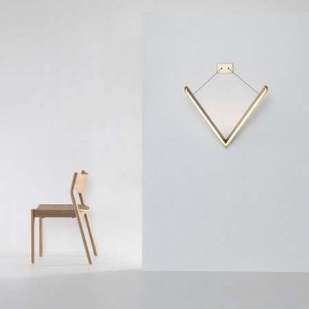 V Wall Light (Brass)