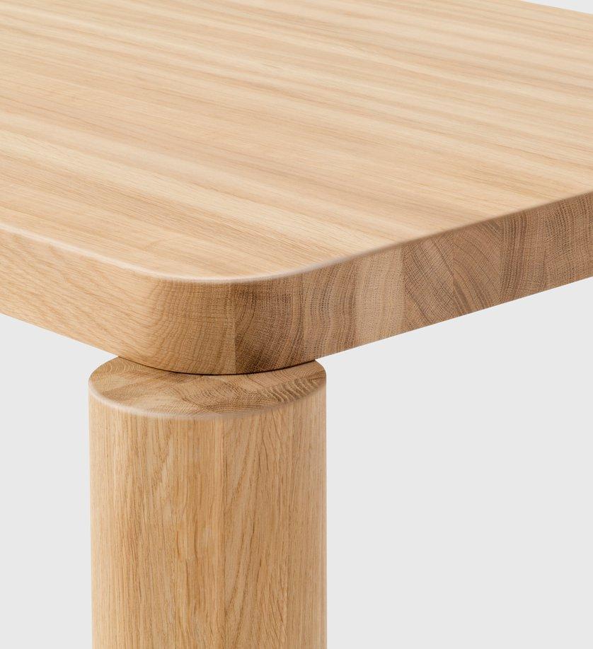 Offset Dining Table, Natural Oak | Resident