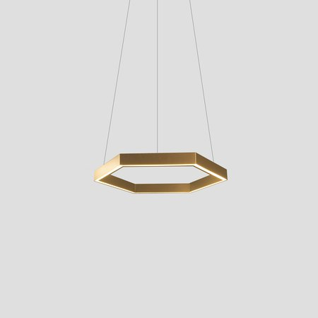 Hex 750 Pendant (Brushed Brass)