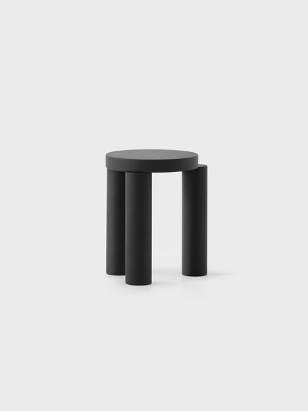 Offset Stool / Sidetable (Black Stain Oak)