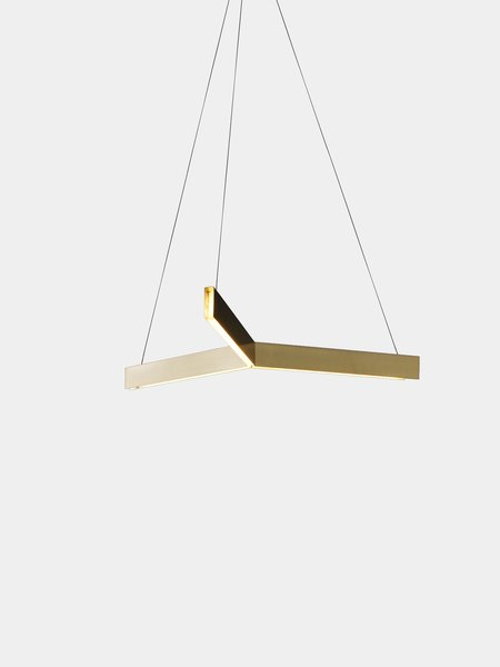 Tri Pendant (Brushed Brass)