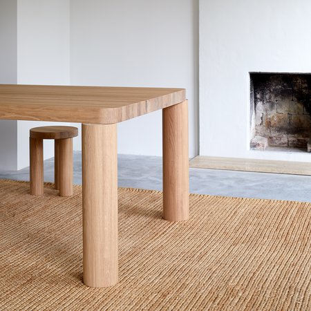 Offset Dining Table (Natural Oak)