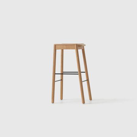Tangerine Stool (Natural Oak)