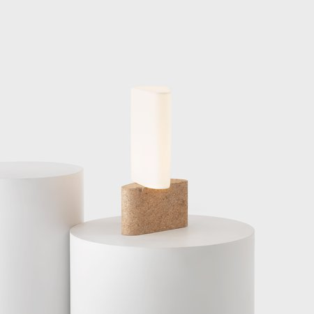 Fulcrum Lamp (Cork and Paper)