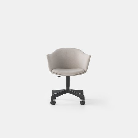 Felix Swivel Chair (Blk Base Casters)