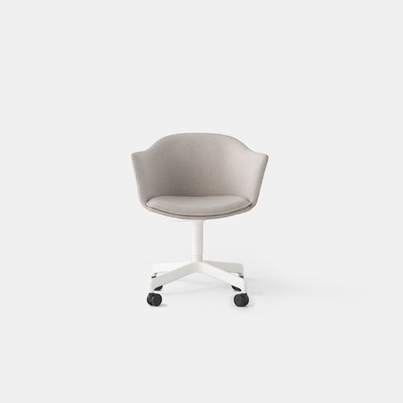 Felix Swivel Chair (Wht Base Casters)