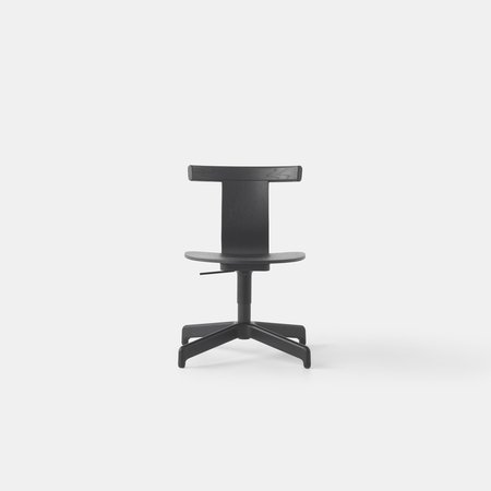 Jiro Swivel Chair (Blk Oak Blk Base)